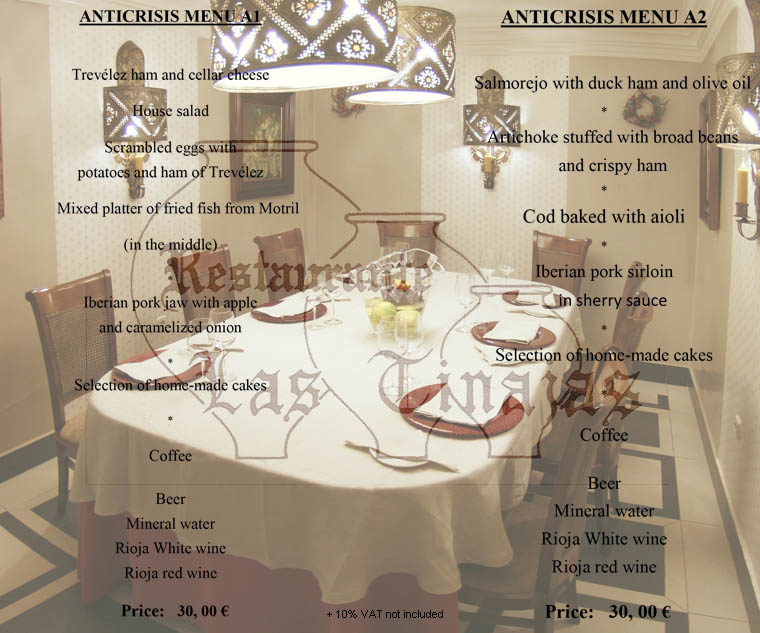 Our anticrisis menus